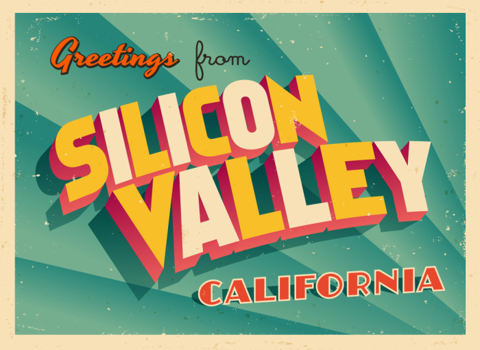 Vintage Touristic Greeting Card - Silicon Valley, California - V